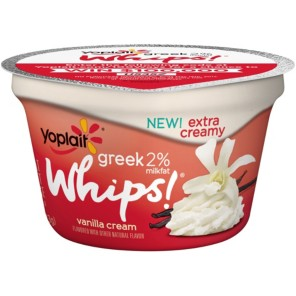 Yoplait Greek Whips Vanilla Cream Yogurt