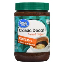 Great Value Instant Coffee, Classic Decaf, 8 oz