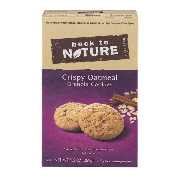 Back to Nature Crispy Oatmeal Granola Cookies