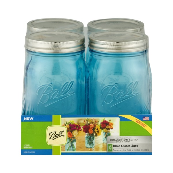 Ball Collection Elite Quart Jars Blue - 4 CT