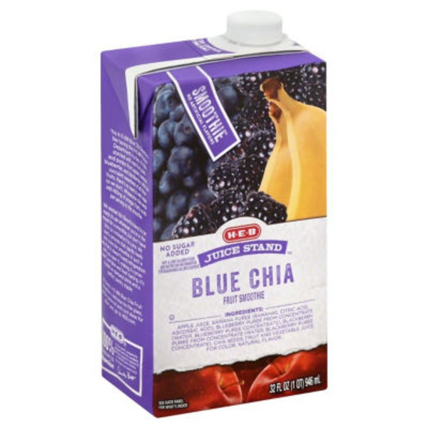 H-E-B Juice Stand Blue Chia Smoothie