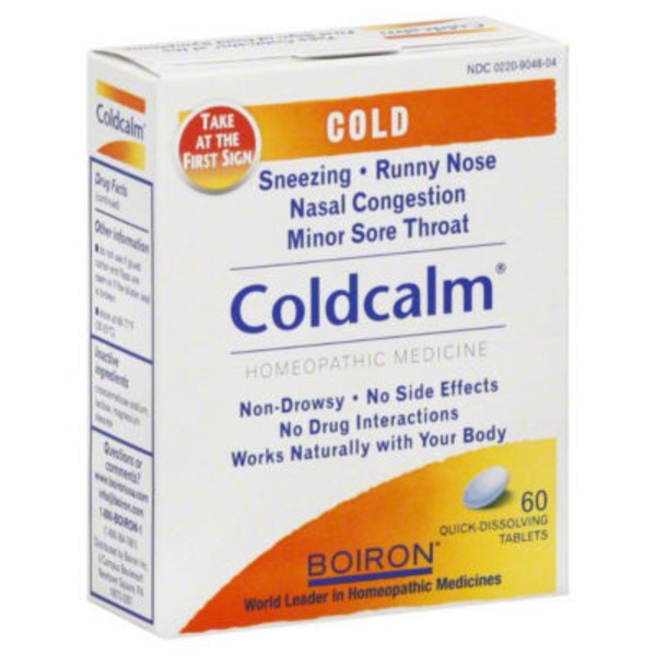 Boiron Coldcalm Homeopathic Medicine Cold Relief Quick Dissolving Tablets - 60 CT
