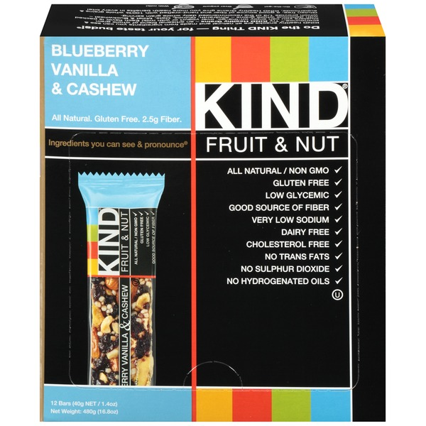 KIND Blueberry Vanilla & Cashew Fruit & Nut Bar