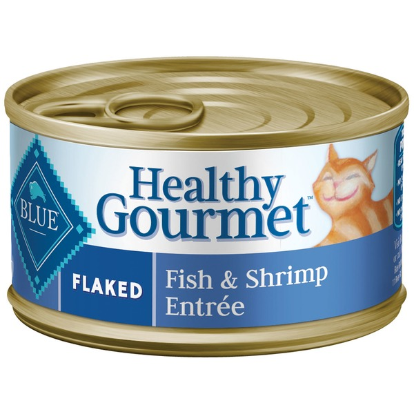 Blue Buffalo Food for Cats, Natural, Flaked, Fish & Shrimp Entree