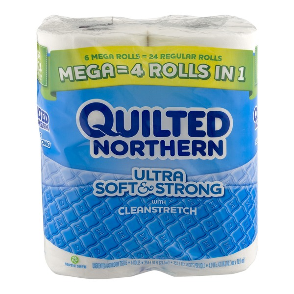 Quilted Northern Ultra Soft & Strong with Clean Stretch Mega Rolls - 6 CT