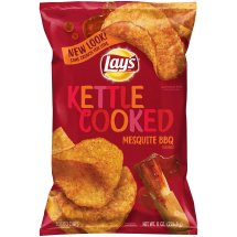 Lay's® Kettle Cooked Potato Chips, Mesquite Barbecue, 8 oz Bag