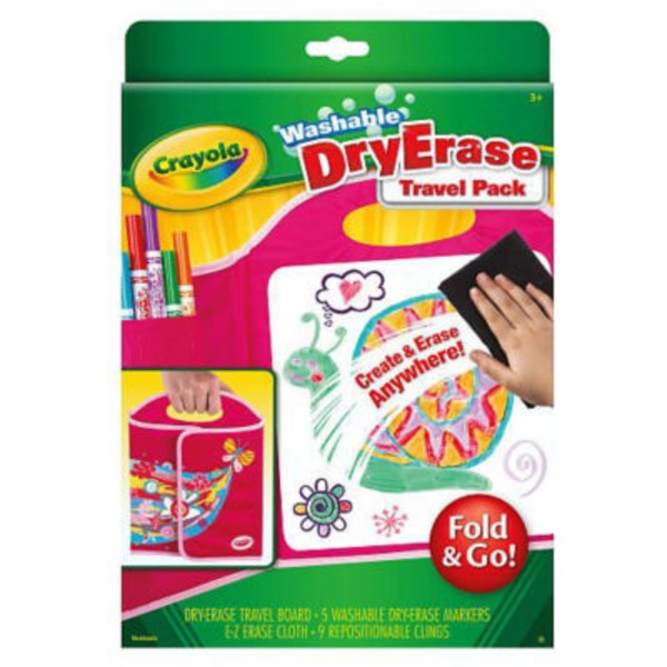 Crayola Fold And Go Washable Dry Erase Travel Pack