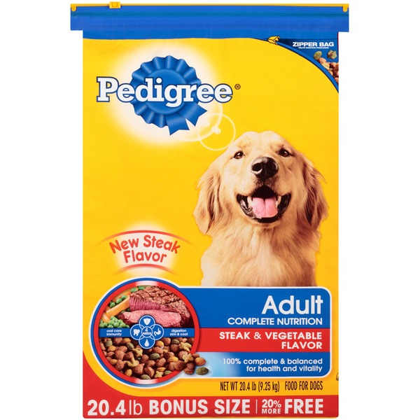 Pedigree Adult Complete Nutrition Steak & Vegetable Flavor Dog Food