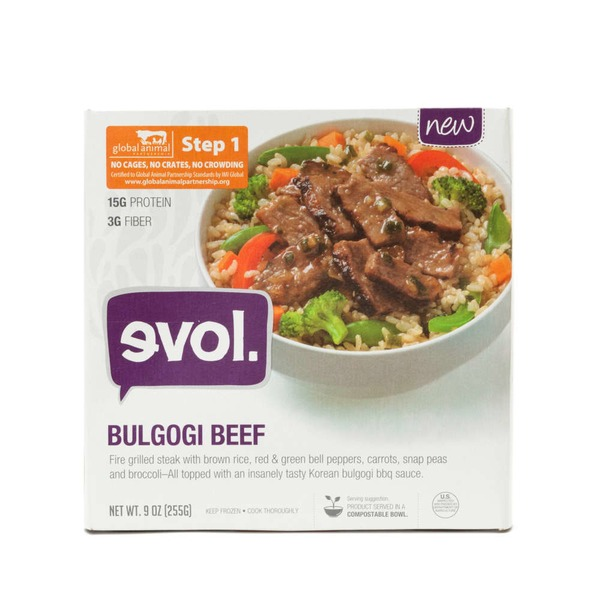 Evol Foods Korean Bbq Beef Bowl