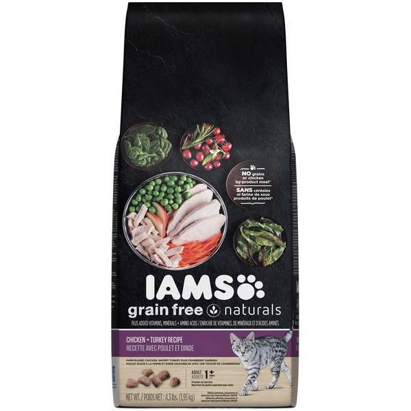 Iams Grain Free Naturals Chicken + Turkey Recipe Adult Cat Food