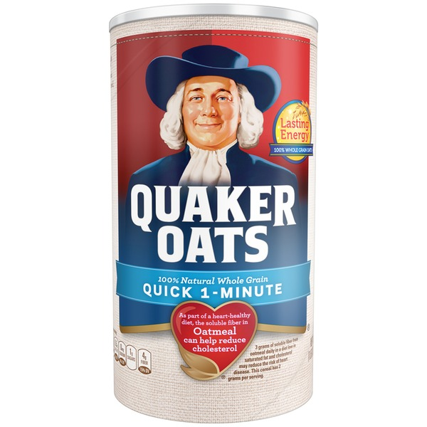 Quaker Oats 100% Whole Grain Quick 1-Minute Oatmeal