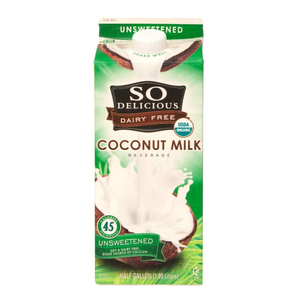 So Delicious Dairy Free Unsweetened Vanilla Coconut Milk