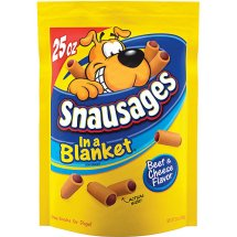 Snausages In a Blanket Beef & Cheese Flavor Dog Treats, 25 Oz.