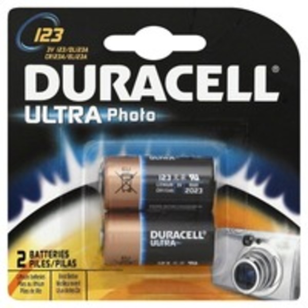 Duracell Ultra Lithium Batteries 123 For Digital Photography
