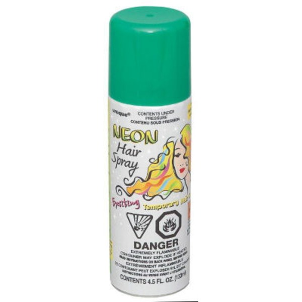 Unique Green Neon Hair Spray
