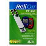 ReliOn Prime Blood Glucose Test Strips, 50 Ct