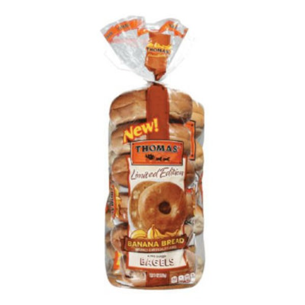 Thomas Limited Edition Pre-Sliced Bagels Gingerbread - 6 CT