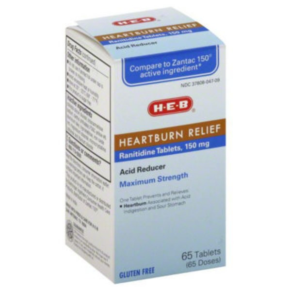 H-E-B Maximum Strength Heartburn Relief Acid Reducer Tablets
