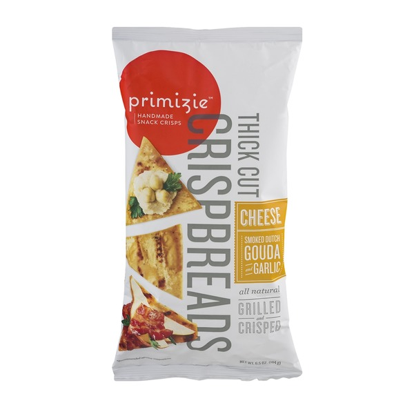 Primizie Crispbreads Thick Cut Cheese Smoked Dutch Gouda Garlic