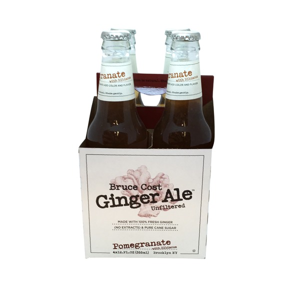 Bruce Cost Unfiltered Ginger Ale Pomegranate with Hibiscus