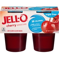 Jell O Ready To Eat Sugar Free Cherry Low Calorie Gelatin Snacks