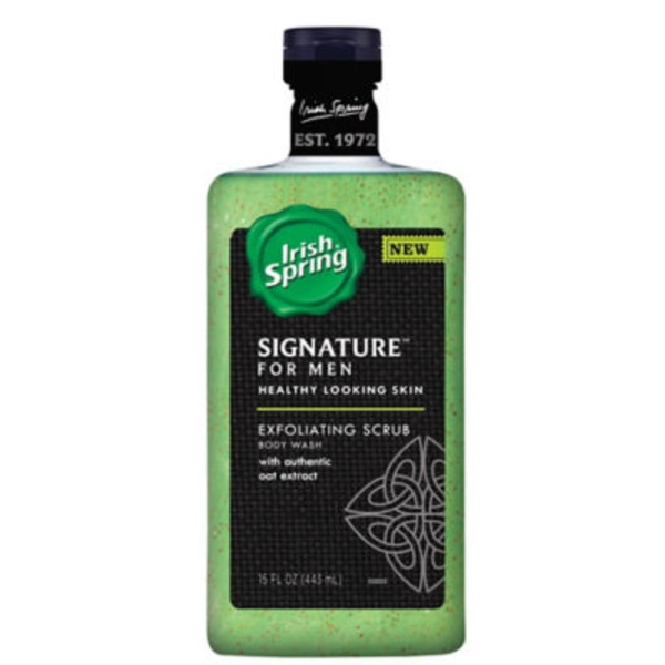 Irish Spring Signature For Men Clean & Scrub Body Wash