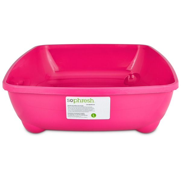 So Phresh Pink Large Open Litter Box