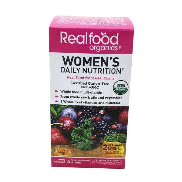 Country Life Real Food Organics Women's Daily Nutrition Tablets
