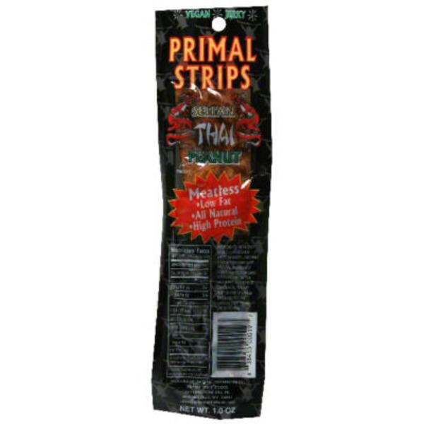 Primal Pet Foods Meatless Vegan Jerky Seitan Thai Peanut