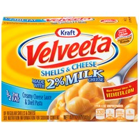 Kraft Dinners Velveeta Made with 2% Milk Cheese Shells & Cheese