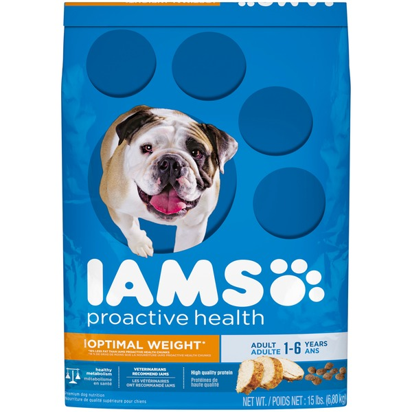Iams Proactive Health Optimal Weight Adult with Real Chicken Dog Food