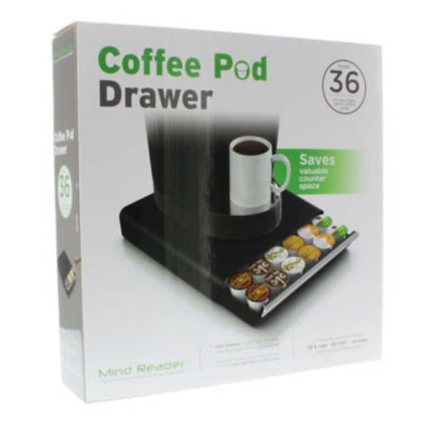 Mind Reader Coffee Pod Drawer Holds 36 K Cups