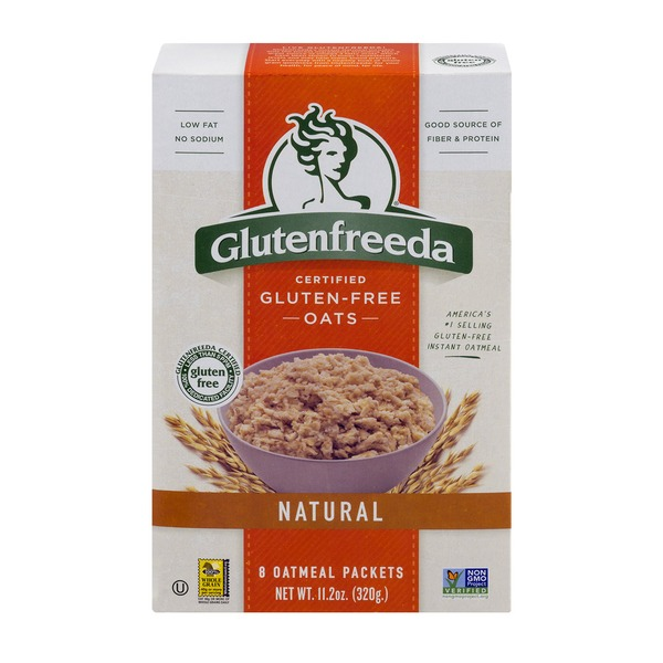 Glutenfreeda Certified Gluten-Free Oats Natural Oatmeal Packets - 8 CT