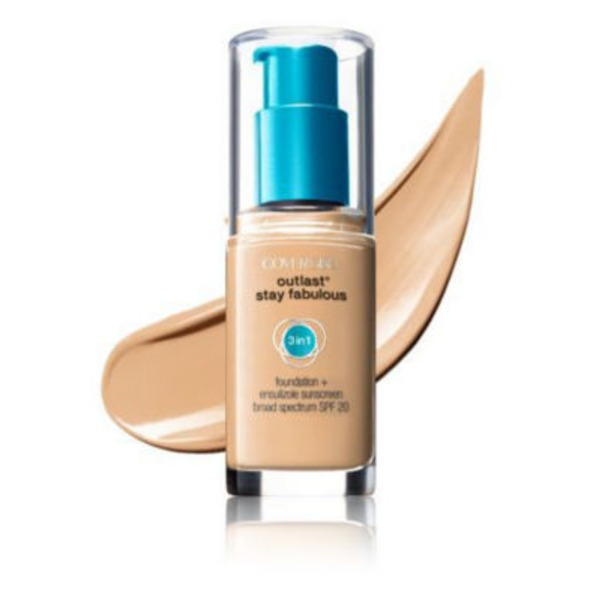 CoverGirl Outlast All Day COVERGIRL Outlast All-Day Stay Fabulous 3-in-1 Foundation, Soft Honey 1 fl oz (30 ml) Female Cosmetics