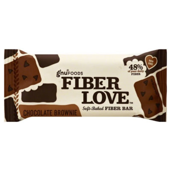 NuGo Fiber d'Lish Soft Baked Delicious Treat Chocolate Brownie Bar