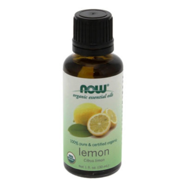 Now 100% Pure & Certified Organic Lemon Oil