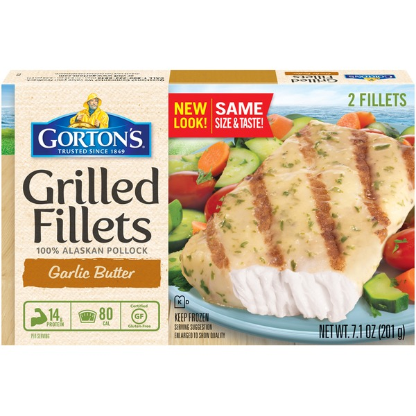 Gorton's Grilled Alaska Pollock Garlic Butter Fish Fillets