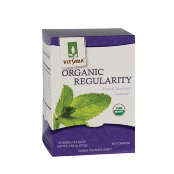 Versana Organic Regularity Herbal Stimulant Laxative Tea, No Caffeine
