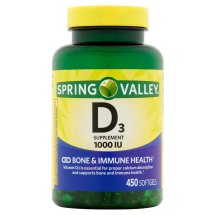 Spring Valley Vitamin D3 Softgels, 1000 IU, 450 Ct
