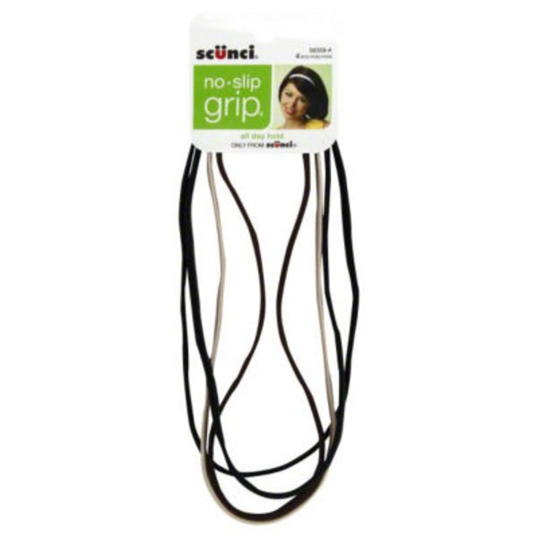 Scunci No Slip Grip Hair Bands Assorted Color - 4 CT