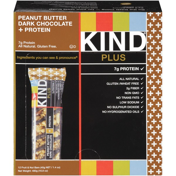 KIND Peanut Butter Dark Chocolate Plus Protein 1.4 oz Fruit & Nut Bars