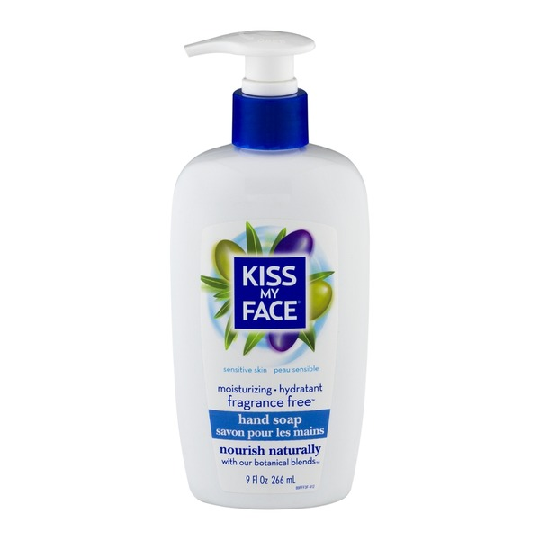 Kiss My Face Hand Soap, Fragrance Free for Sensitive Skin