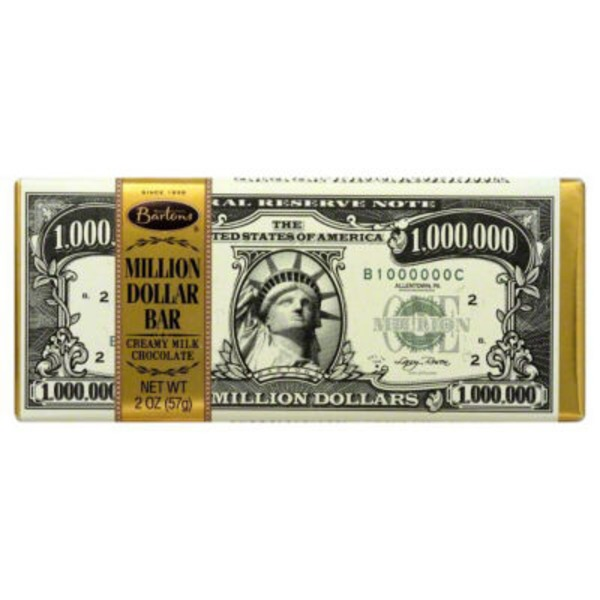 Bartons Milk Chocolate Million Dollar Bar