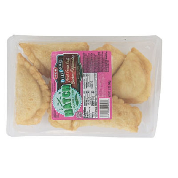 H-E-B Fully Cooked Hatch Green Chili Chicken Empanadas