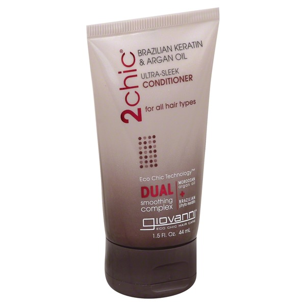 Giovanni Conditioner, Ultra-Sleek, Brazilian Keratin & Argan Oil