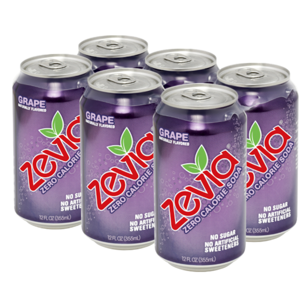 Zevia Zero Calorie Grape Soda