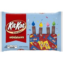 Kit Kat Birthday Miniatures Candy Red Yellow Blue