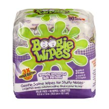Boogie Wipes Unscented Saline Wipes, 90 sheets