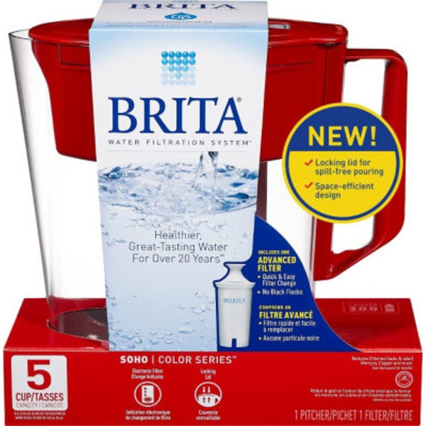 Brita Soho Color Series 5 Cup Pitcher