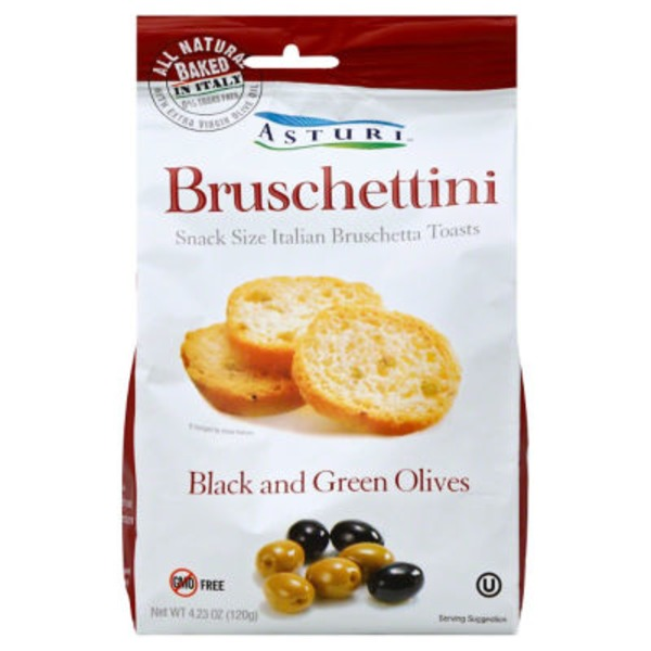 Asturi Bruschettini, Black and Green Olives